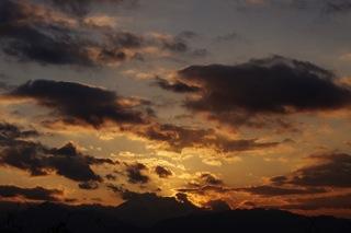 富士山のある(?)夕景