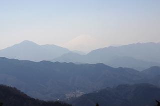 高尾山頂より富士山