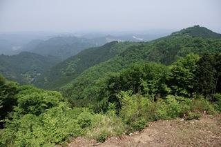 岩茸石山の山頂より展望(1)