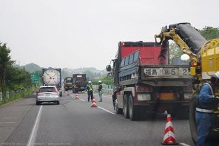 東北自動車道の工事