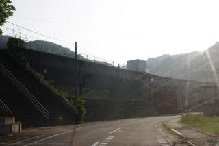 普代村の堤防