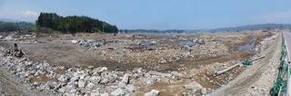 野田村の被害をパノラマで
