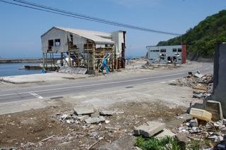 久慈港近くの被害